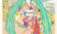 日本国宝级技艺制作的初音未来浮世绘将发售