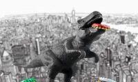 给暴龙亲一亲立马搞定 恐龙开瓶器太好玩