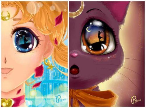 眼里不只有星星 饭绘《美少女战士》眼睛美图引网友热赞