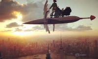 """宫崎骏的经典动漫角色""""飞翔""""在魔都上空"""