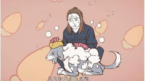 《非人哉》动画:小玉给啸天爆炸伤口,哮天错误的恋爱感觉