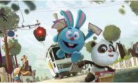 俄中首部合拍动画系列片《熊猫和开心球》在中国首映